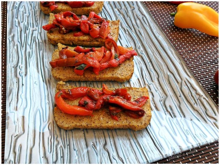 polenta taragna peperoni grigliati pentole e petali